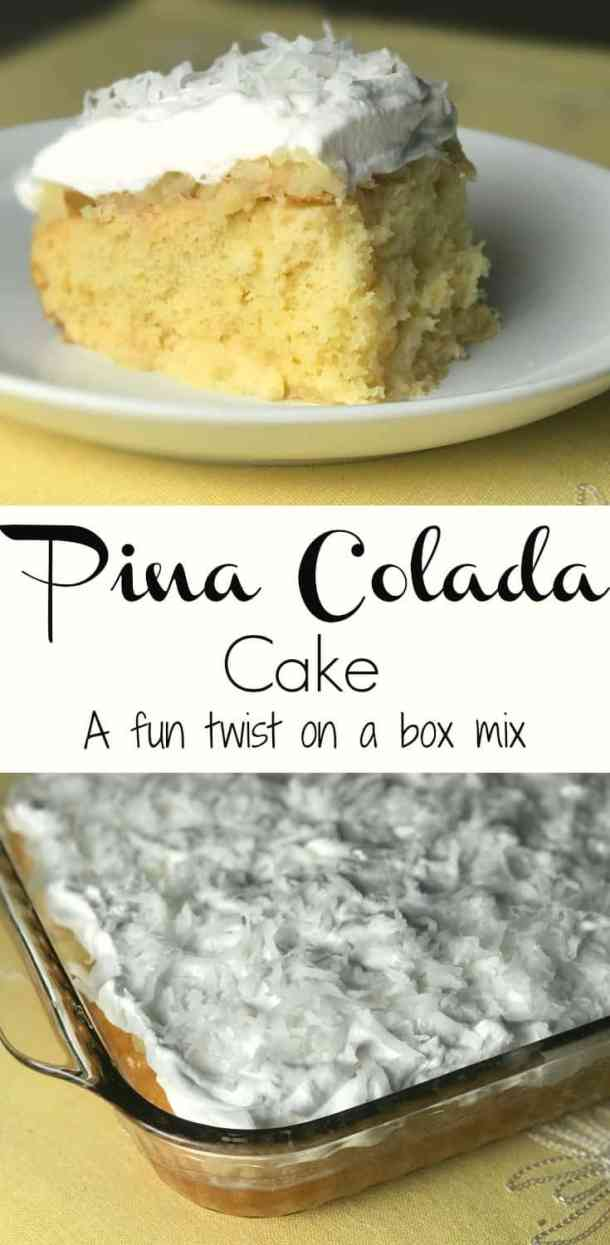 easy pina colada cake mix