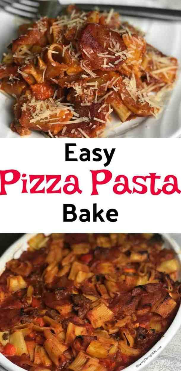 easy pizza pasta bake