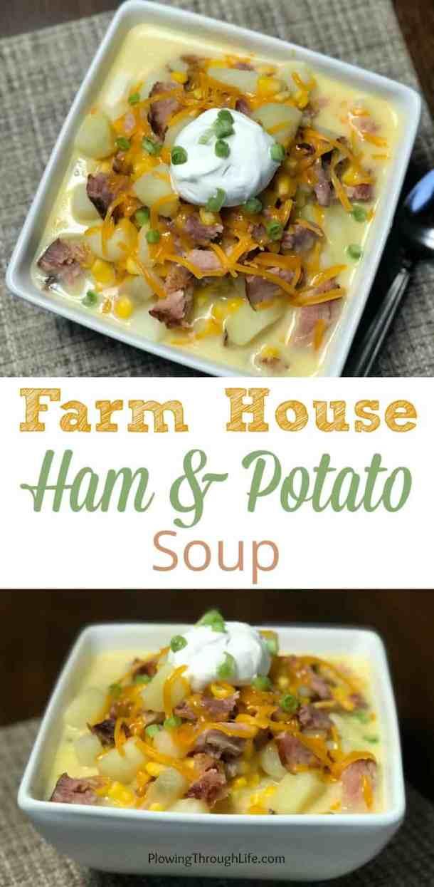 Leftover ham in ham and potato soup