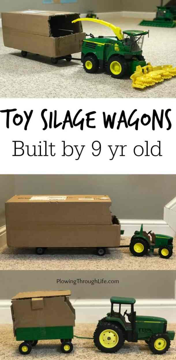 toy silage wagons