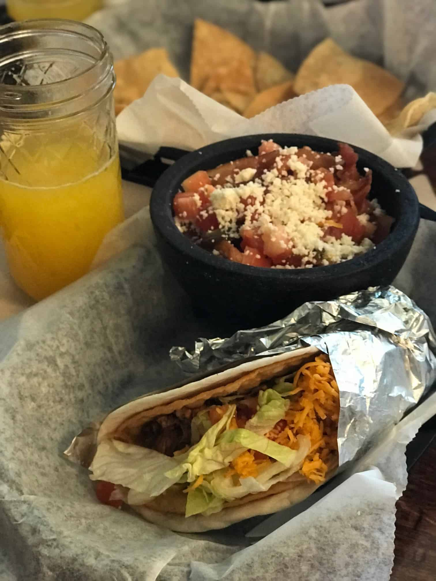 brunch taco and packed bowl