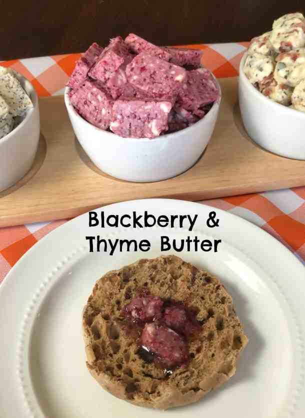 blackberry & thyme fancy butter recipe