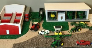 farm toy planting scene 1/64 scale