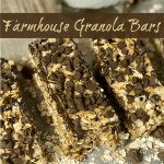 farmhouse table homemade granola bars with chocolate chips
