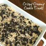 fun and easy rice crispy treat variation with oreos