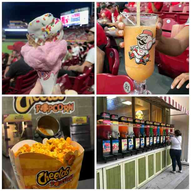 snacks and desserts at the Great American Ballpark