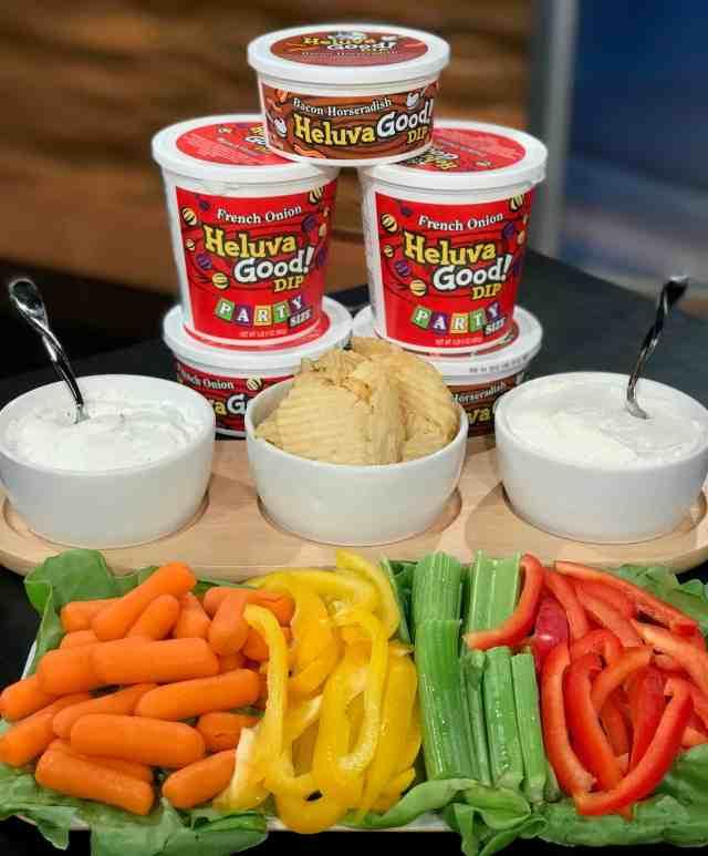 heluva good vegetable dip and hamburger topping