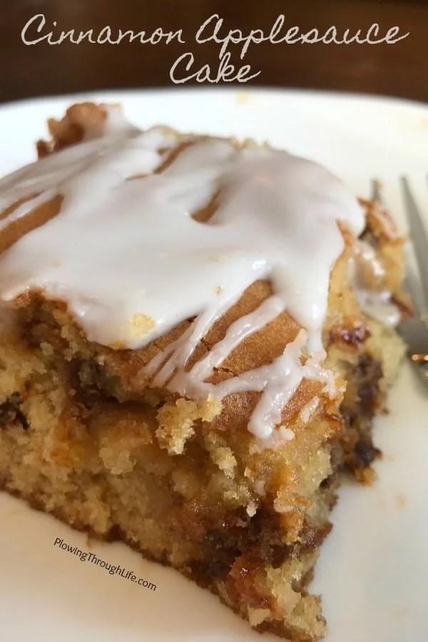 Easy homemade cake recipe idea is Cinnamon Applesauce Cake