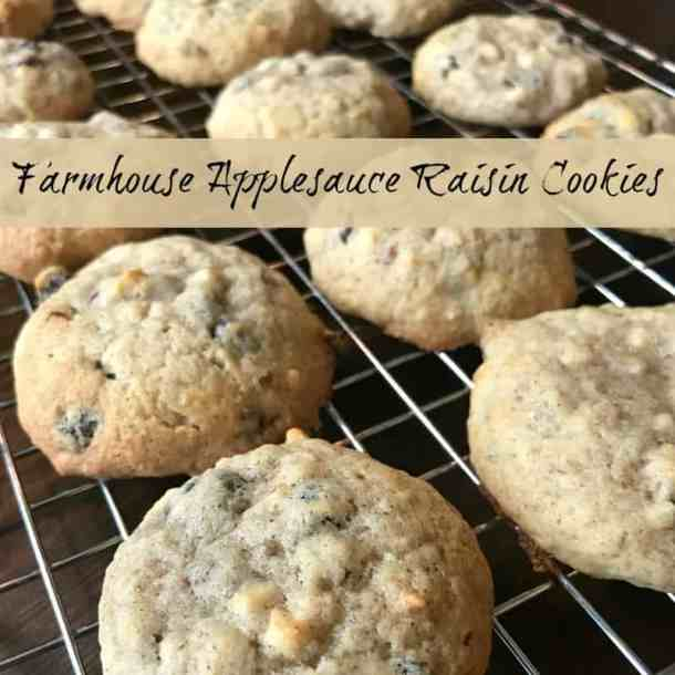 Do you need a new easy cookie recipe? These Farmhouse Applesauce Raisin Cookies are delicious, moist, easy to make and call for simple ingredients that you likely have on hand!