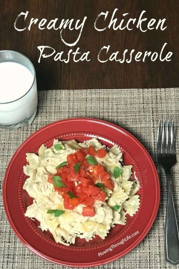 Are you looking for an easy Crock Pot chicken pasta casserole recipe that even picky eaters will eat?  This easy chicken casserole takes five minutes to get started and only requires 5 ingredients.  This is one of the best chicken casseroles we've ever eaten!