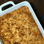 Do you want to have the BEST cheesy potatoes recipe in the neighborhood?  This Easy Cheesy Potatoes recipe is often served on our farmhouse table because it's DELICIOUS!  Easy, cheesy and delicious are the winning trifecta for a potato casserole and we have the best recipe cheesy potato casserole recipe to share!