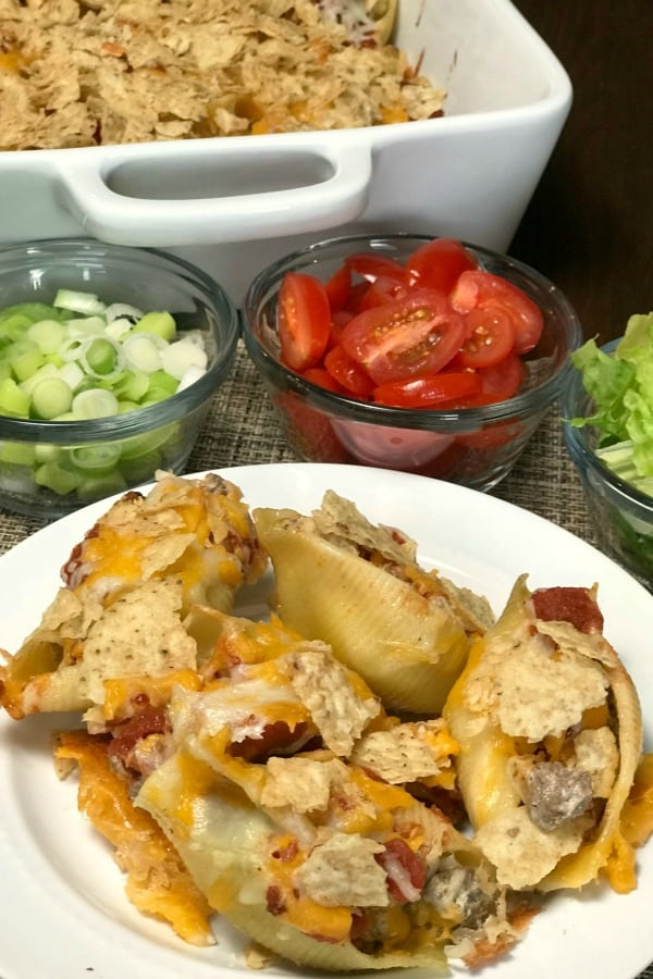 When life is busy we all need some easy meals like these Pasta Shell Tacos! Pasta tacos are a fun twist on traditional tacos. The pasta shellsmake the recipe more filling than regular tacos and this is an easy meal to make.