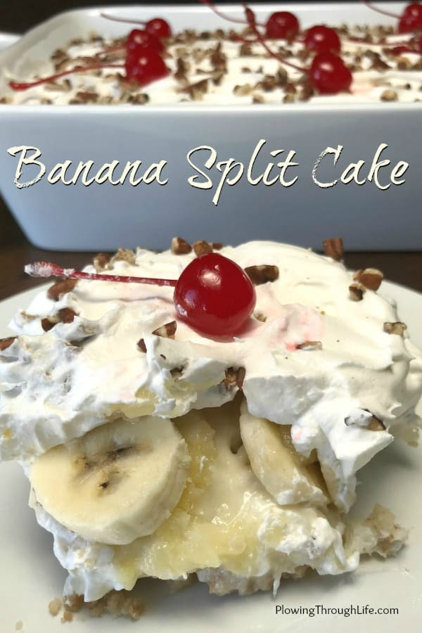 Do you love a perfectly light and delicious dessert? This Banana Split Cake is a perfectly satisfying, fruity and creamy dessert. This recipe makes an impressive presentation with very little effort!