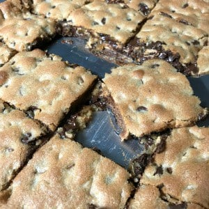 Who doesn't like the combination of chocolate and peanut butter? This is the best chocolate and peanut butter bar cookie recipe! These bar cookies give you a FAST and EASY way to enjoy the chocolate and peanut butter combination in cookie form!