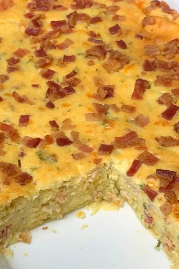 Are you looking for a hearty brunch casserole or potato side dish? Bacon Potato Puff is a combination of potatoes, eggs, bacon, and cheese in a very filling and delicious casserole dish!