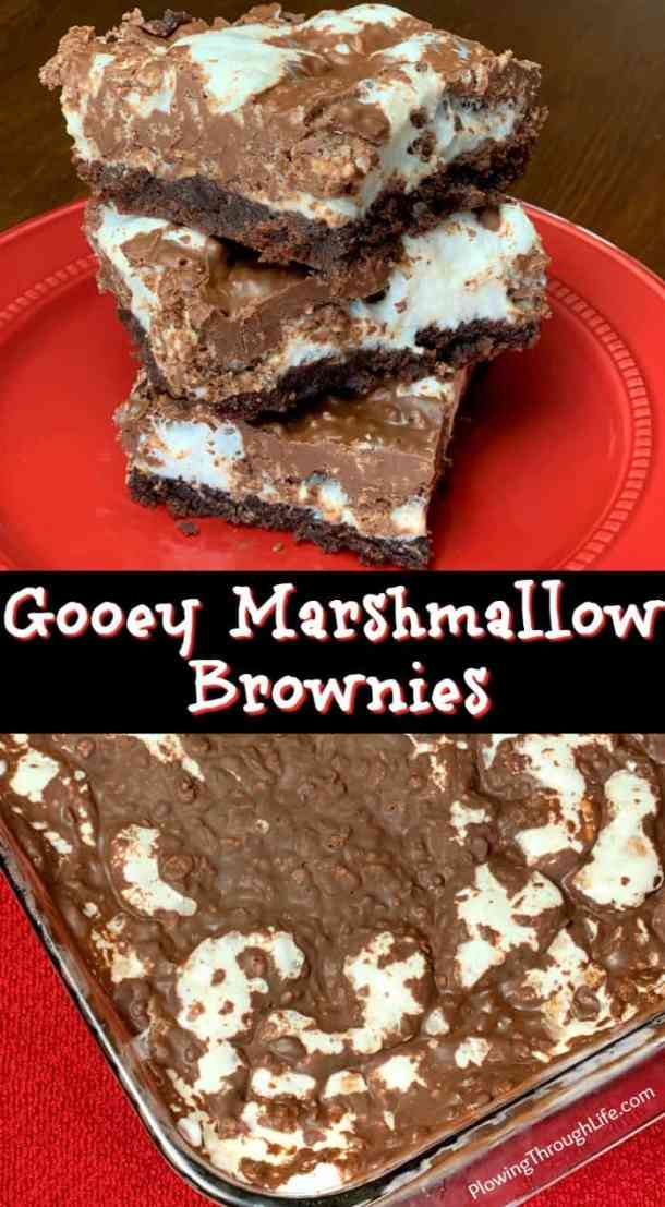Gooey Marshmallow Brownies have a fudgy brownie layer with a gooey marshmallow layer topped with chocolatelycrispies that make a DELICIOUS chocolate dessert! These combinations of chocolate are irresistible!