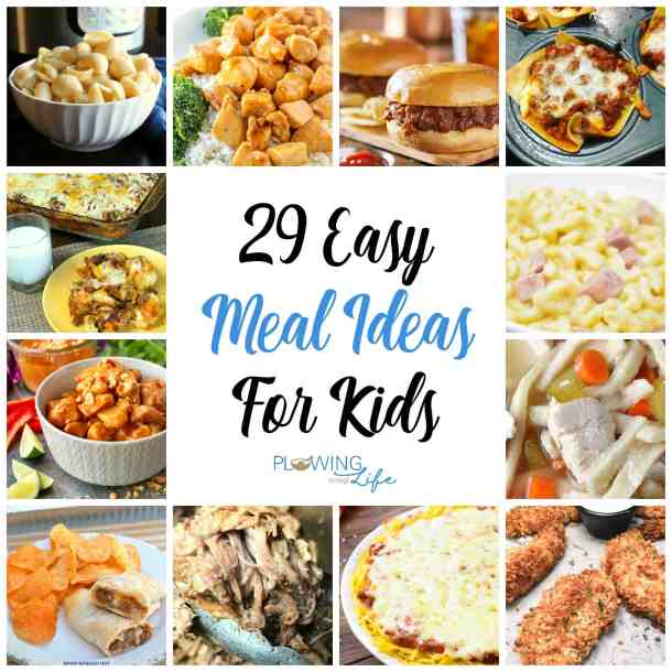 29 Easy Dinner Ideas For Kids Plowing Through Life