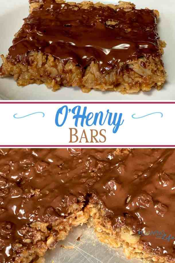 Everyone in the family loves these homemade O'Henry Bars when they are soft and chewy!  When we make these bars again we might even add some more chocolate to the top because we love chocolate.  I would classify these bars as a great dessert or snack, but it's possible they have been eaten for breakfast