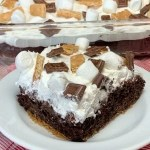 Piece of S'mores Pudding Dessert Cake