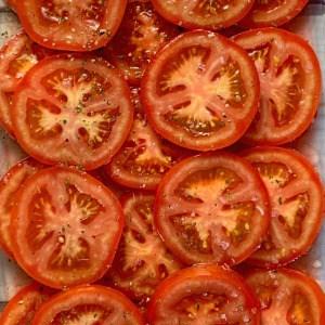 Sliced Lightly Marinated Tomatoes