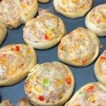 chicken swirls are perfect appetizers or snacks for parties, tailgating, baby showers or bridal showers.