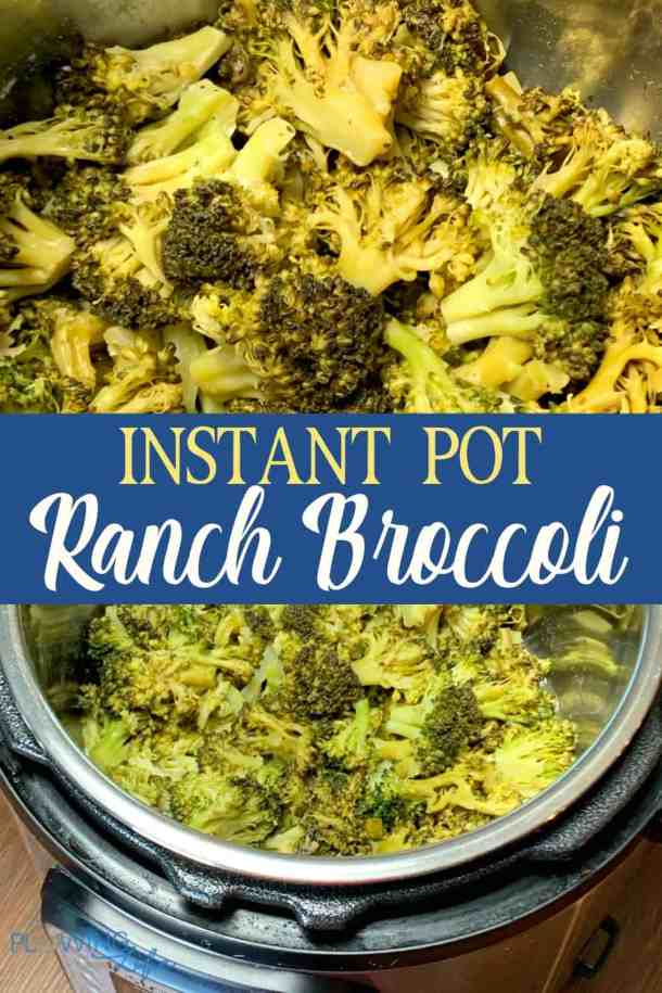 A big batch of a vegetable side dish that can travel well for holiday meals and family parties. This Instant Pot Ranch Broccoli is such an EASY recipe that tastes great! #sidedish #InstantPot