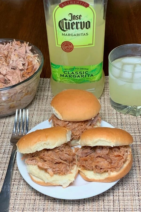 when you need an easy meal to make this Margarita Monday Pulled Pork has only three ingredients and is very easy to make in the crock pot.