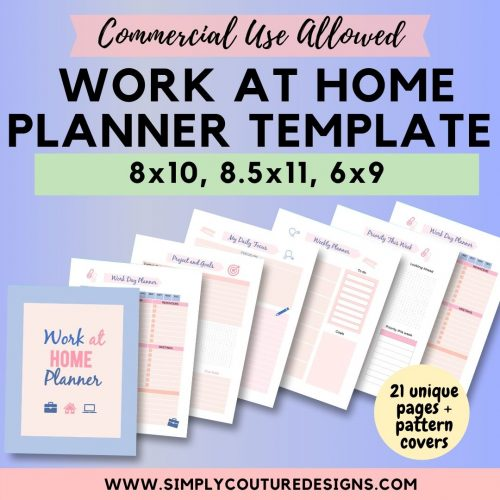 Simple Work At Home Planner Product