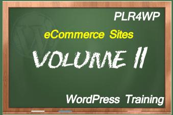 plr4wp Volume 11 WordPress eCommerce Set Up
