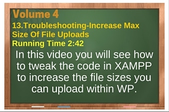 plr4wp Vol 4 Video 13 Troubleshooting-Increase Max Size Of File Uploads