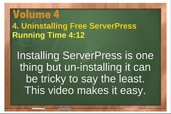 plr4wp Vol 4 Video 4 Uninstalling Free ServerPress