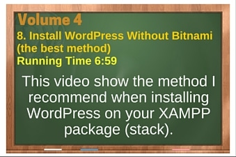 plr4wp Vol 4 Video 8 Install WordPress Without Bitnami (the best method)