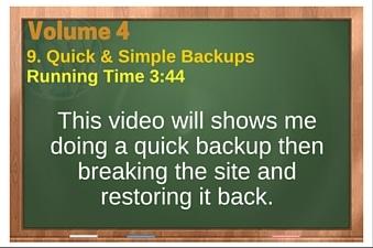 plr4wp Vol 4 Video 9 Quick & Simple Backups