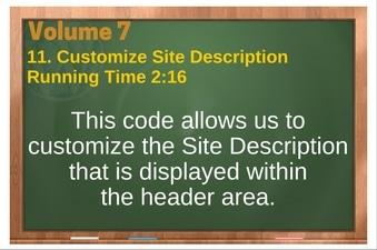 PLR 4 WordPress Vol 7 Video 11 Customize Site Description
