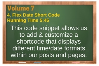 PLR 4 WordPress Vol 7 Video 4 Flex Date Short Code