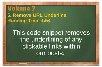 PLR 4 WordPress Vol 7 Video 5 Remove URL Underline