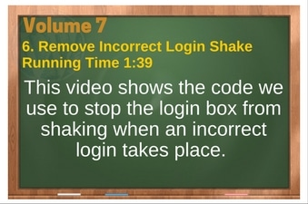 PLR 4 WordPress Vol 7 Video 6 Remove Incorrect Login Shake