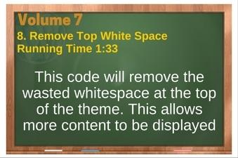 PLR 4 WordPress Vol 7 Video 8 Remove Top White Space