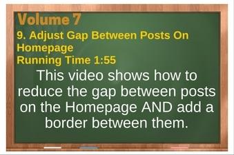 PLR 4 WordPress Vol 7 Video 9 Adjust Gap Between Posts On Homepage