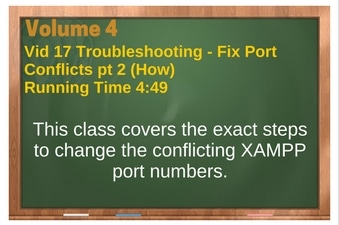 PLR for WordPress Volume 4 Video 17 Fixing Port Conflicts pt 2 (How)