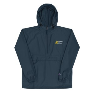 Parking Lot Racing Logo Champion Packable Wind and Rain Jacket
