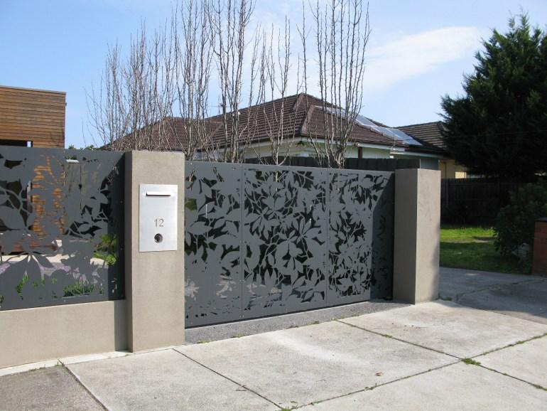 'Olinda Leaves' Gate and Fencing (Powder Coated Aluminium)