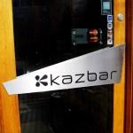 Door Signage with Enamel Inlay - Kazbar Cafe-Bar, South Yarra