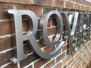 'Royadie Rise' Lettering, Berwick