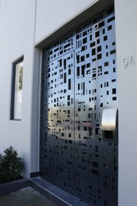 'Cityscape' Security Door