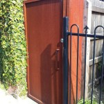 Solid Corten Gate
