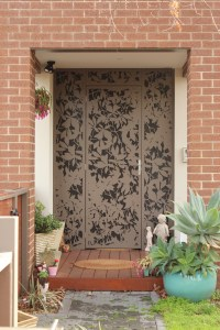 'Olinda Leaves' Decorative Security Door with Mesh