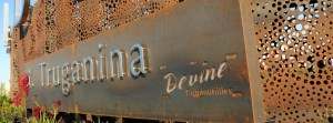 Park Signage with 'Honeycomb' Screens and Stainless Steel Lettering, Truganina