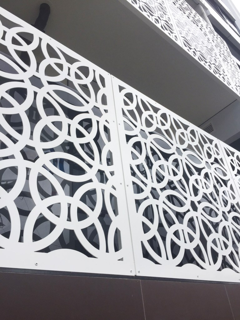 Architectural laser cut screens Ring Arrary by PLR Design