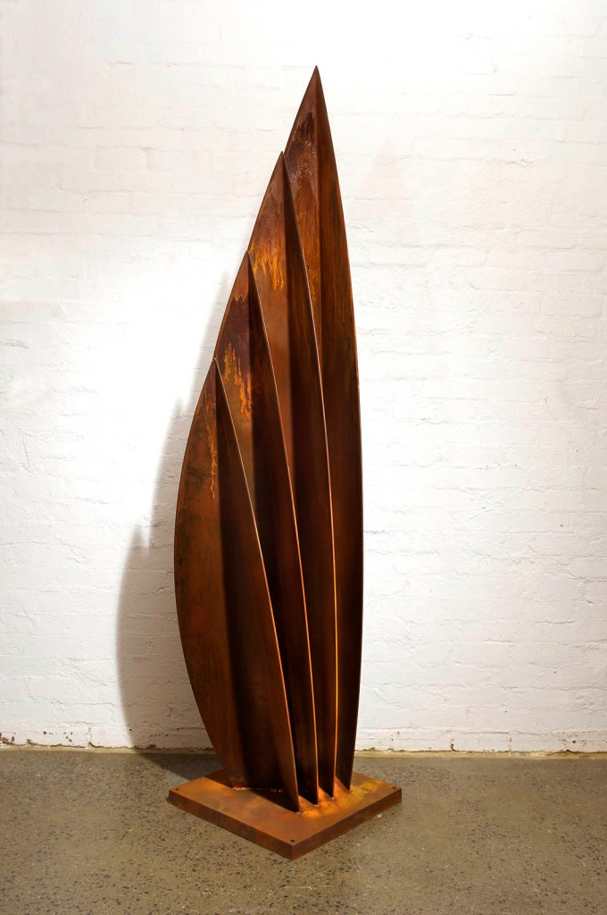 Corten steel sculpture by PLR Design